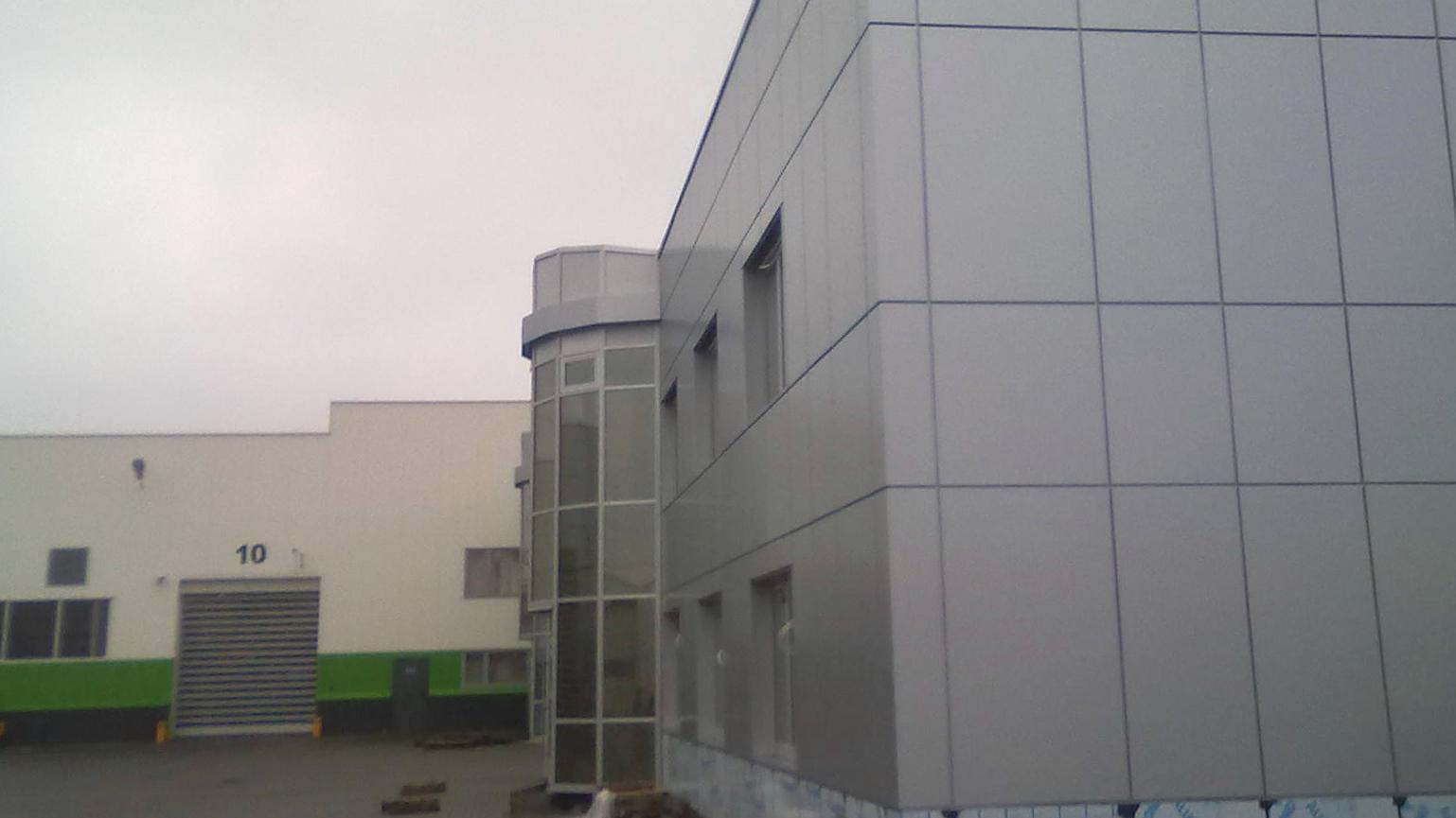 budynek biurowo produkcyjny wąbrzeźno alucobond 5